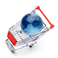 globe-in-shopping-trolley